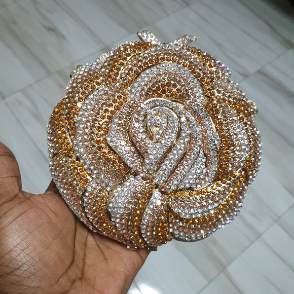 Small Rose Gold Crystal Crystal