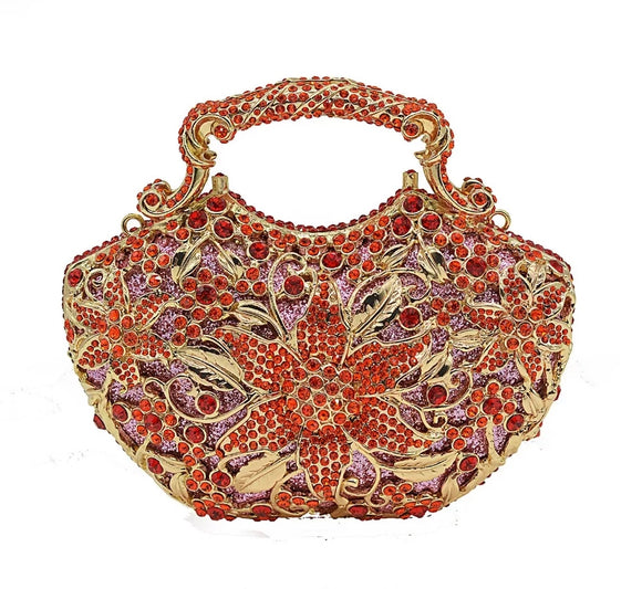 Unique Design Full Crystal Clutch in 4 Colours - Bhe Accessories