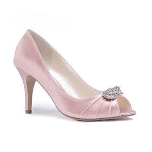 Pink By Paradox Cassiana Blush High Heel Jewelled Peep Toe - Bhe Accessories