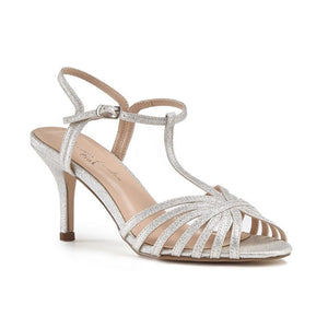 Pink By Paradox Maggie Silver Low Heel Strappy Sandal - Bhe Accessories