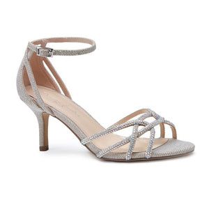 Pink By Paradox Majesty Gold Low Heel Crystal Strap Sandal - Bhe Accessories