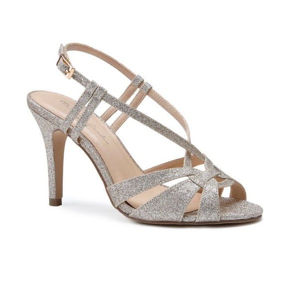Pink By Paradox Mandi Gold High Heel Knotted Strap Sandal - Bhe Accessories