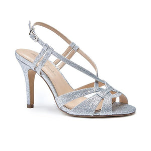 Pink By Paradox Mandi Silver High Heel Knotted Strap Sandal - Bhe Accessories