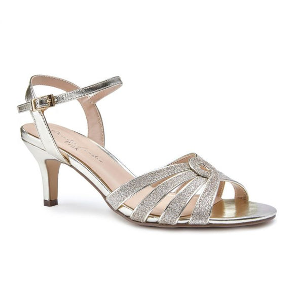 Pink By Paradox Merle Gold Low Heel Knotted Strap Sandal - Bhe Accessories