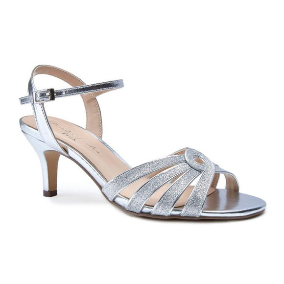 Pink By Paradox Merle Silver Low Heel Knotted Strap Sandal - Bhe Accessories