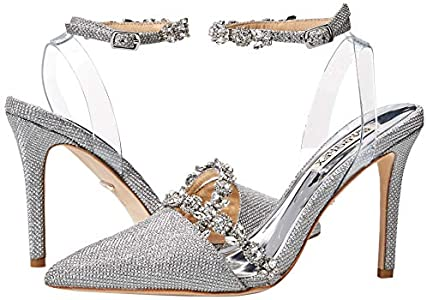 Badgley Mischka Adelina Silver Pointed Toe Heels