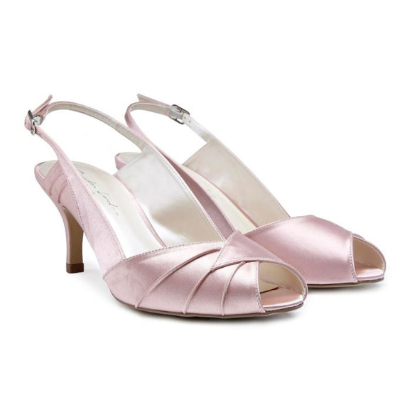 Pink by Paradox Cecilia Low Heel Blush Sling Back Peep Toes - Bhe Accessories