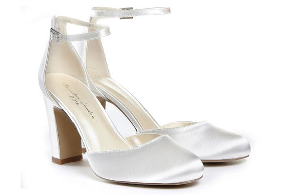 Pink By Paradox Celina Ivory High Block Heel Two-Part Court Shoe - Bhe Accessories