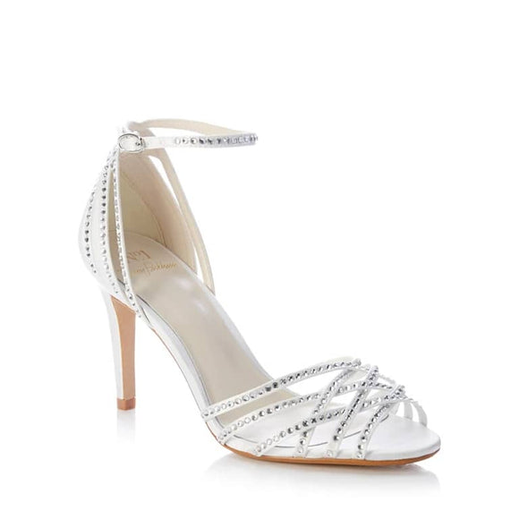 Jenny Packham Ivory Cage Sandal - Bhe Accessories