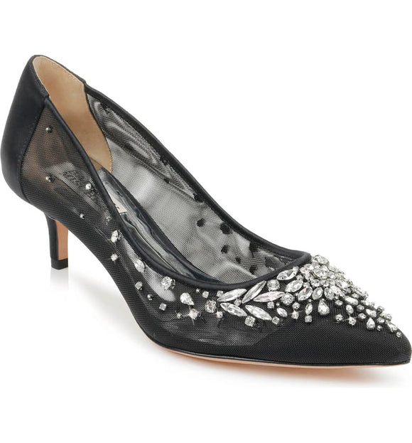 Badgley Mischka Onyx Kitten Heel Pump - Bhe Accessories