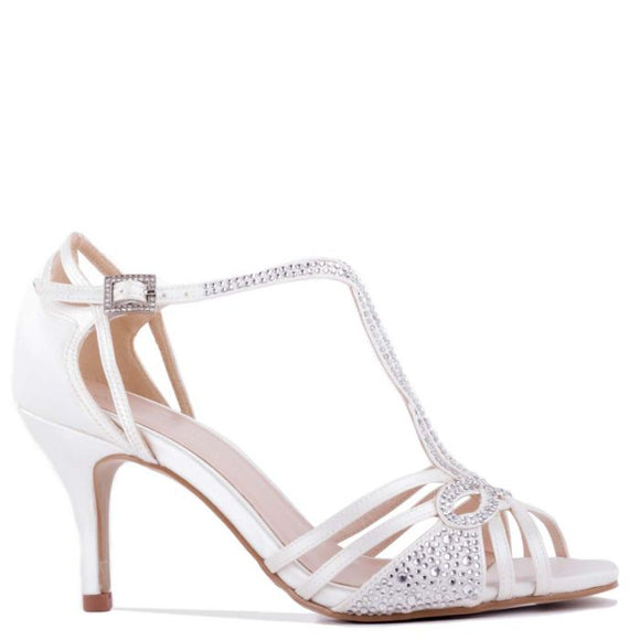 Pradox London Larissa Ivy Low Heel Knotted Strappy Sandal