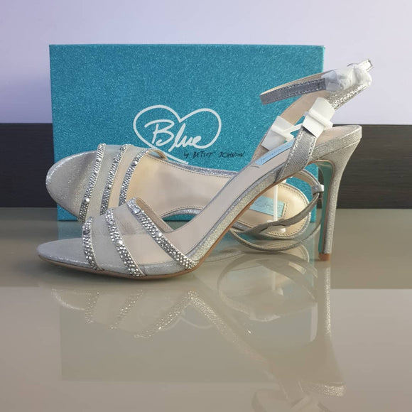 Blue By Betsey Johnson Silver Mesh Sandal - Bhe Accessories