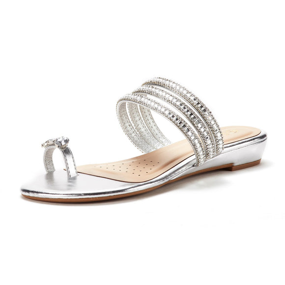 Women's Jewel Flip-Flop Sandals - Bhe Accessories