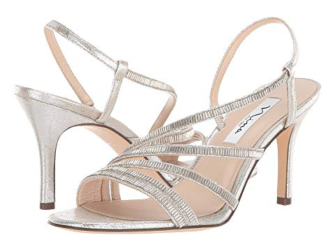 Nina Womens Platinum Amani Slingback Strap Sandals - Bhe Accessories