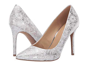 Michael Kors Womens Claire Optic Silver Pump - Bhe Accessories