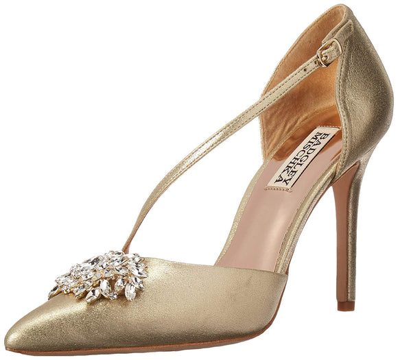 Badgley Mischka Women's Palma Ii Gold Pump Size 37 - Bhe Accessories
