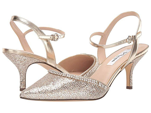 Nina Buena Light Gold Mid Heels - Bhe Accessories