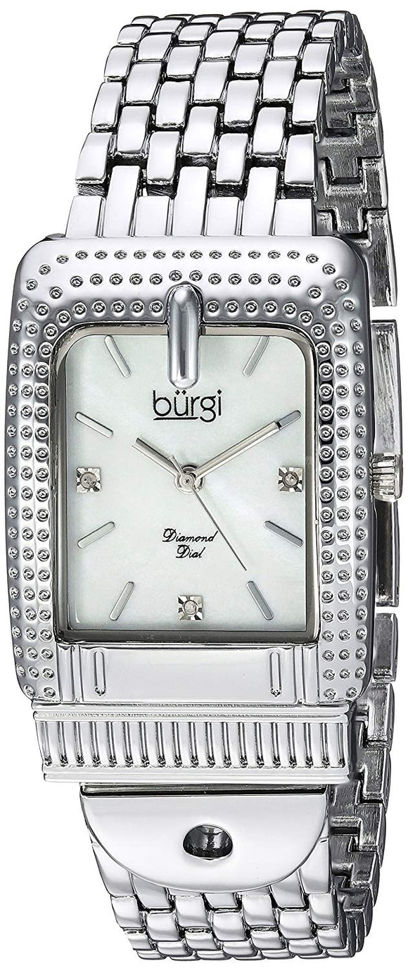 Burgi Women's Quartz Stainless Steel Casual Watch, Color:Silver-Toned (Model: BUR171SS) - Bhe Accessories