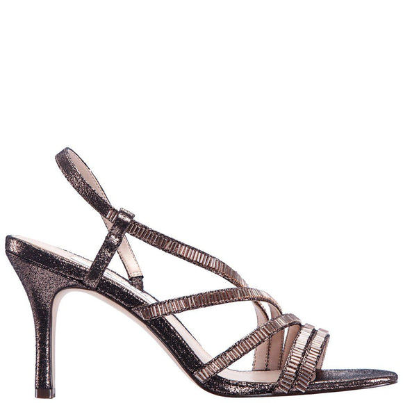 Nina Womens Bronze Stardust Amani Slingback Strap Sandals - Bhe Accessories