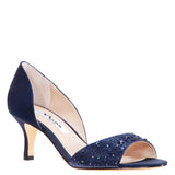 Cathey Navy Satin