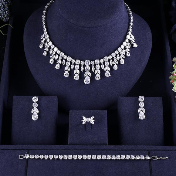 Tassel 4 Piece Bridal Jewelry Sets - Bhe Accessories