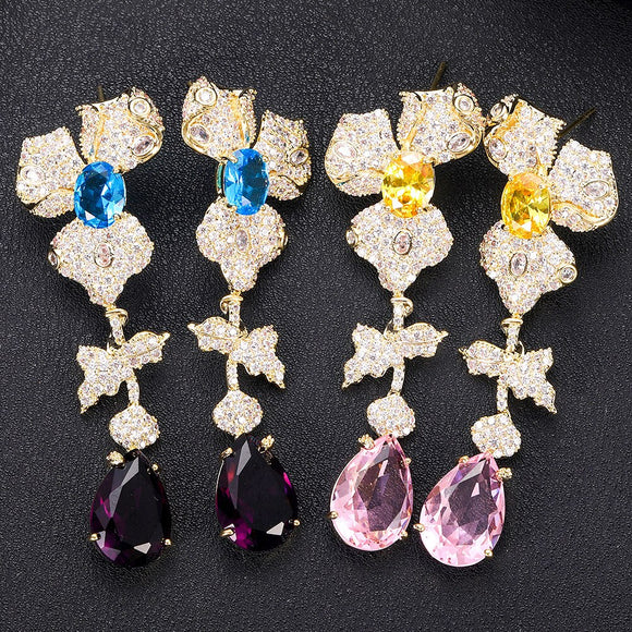 Sparkly AAA Cubic Zirconia Earring - Bhe Accessories