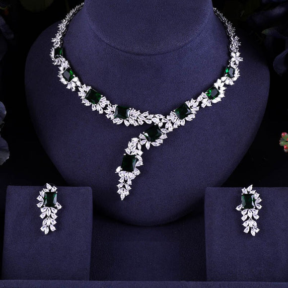 Bridal Cubic Zirconia Necklace and Earring Jewelry Sets - Bhe Accessories