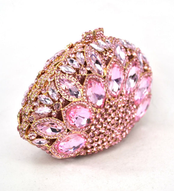 Pink Luxury Crystal Clutch Purse - Bhe Accessories