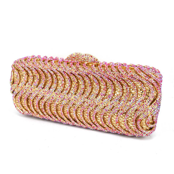 17 Colours Luxury Crystal Clutch Purse - Bhe Accessories