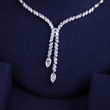 Crystal Cubic Zirconia Tassle Jewellery Set - Bhe Accessories