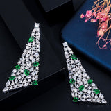 Crystal Long Drop Cubic Zirconia Earrings - Bhe Accessories