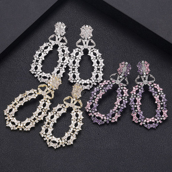 Round AAA Cubic Zirconia Earrings - Bhe Accessories