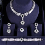 Statement Crystal AAA Cubic Zirconia 4 Pieces Jewellery Set - Bhe Accessories