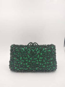 Green Crystal Clutch Purse - Bhe Accessories