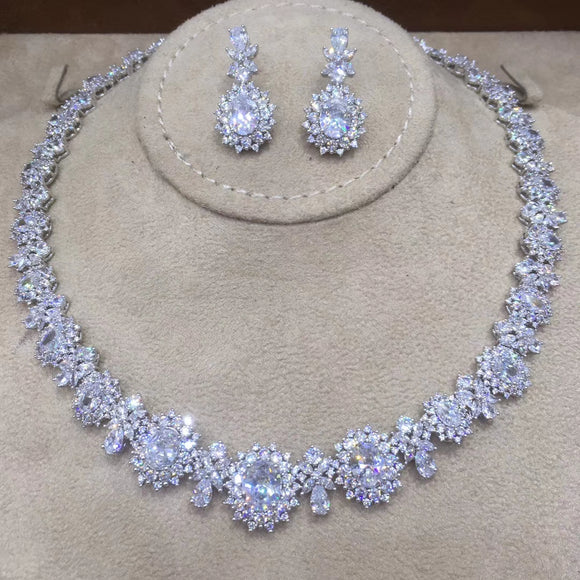 Round Cubic Zirconia 2 Pieces Jewellery Set