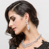 Cubic Zrconia Bridal Drop Earrings - Bhe Accessories