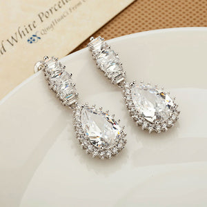CZ Diamond Women Luxury Drop Earring - Bhe Accessories