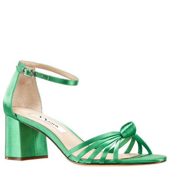 Nidiah Green Grass Satin