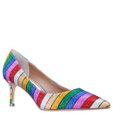 Nina Low Heel Multi Rainbow Pump