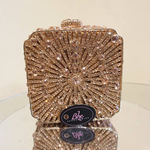 Cube Embellished Crystal Clutch - Bhe Accessories