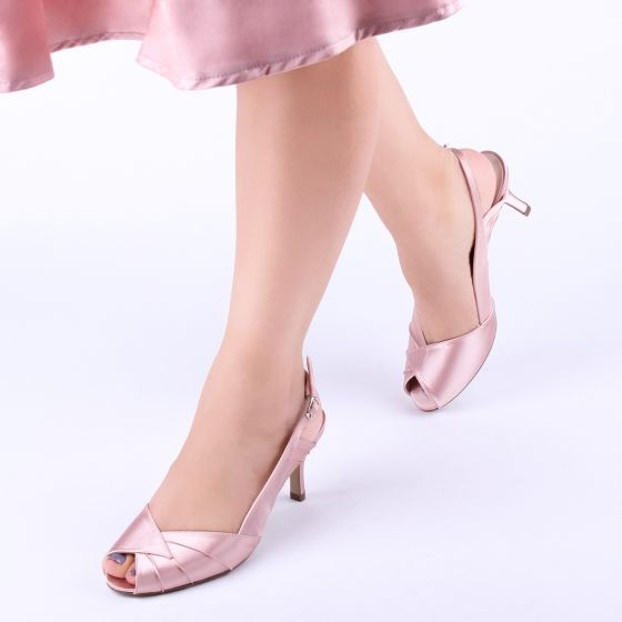 905ee17ca2f ... Pink by Paradox Cecilia Low Heel Blush Sling Back Peep Toes - Bhe  Accessories ...