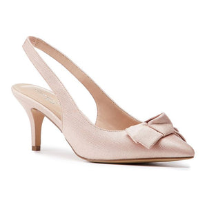 Paradox london Kaila Blush Low Heel Slingback With Knot Detail