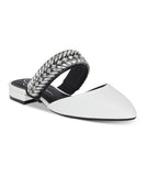Jessica Simpson Women Bright White Lavretta Leather Mule - Bhe Accessories