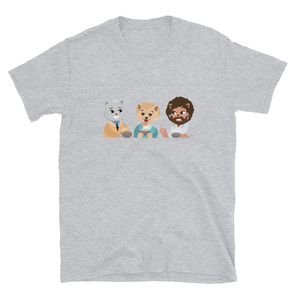Cat Neighbors Tea Time T-Shirt