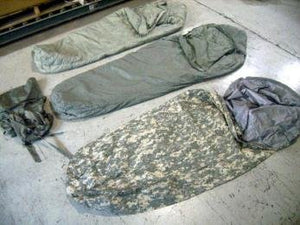 USGI ARMY ISSUE TENNIER INDUSTRIES 5 PIECE MODULAR SLEEP SYSTEM ACU