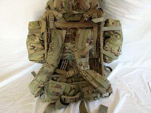 MILITARY MOLLE II MULTICAM LARGE RUCKSACK COMPLETE ASSEMBLY VERY GOOD CONDITION