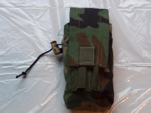 US MILITARY MOLLE II WOODLAND GREEN M-4 DOUBLE MAGAZINE POUCH EXCELLENT CONDITION