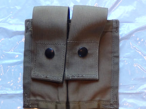 NEW MOLLE II DOUBLE 40MM HIGH PYROTECHNIC POUCH, COYOTE BROWN