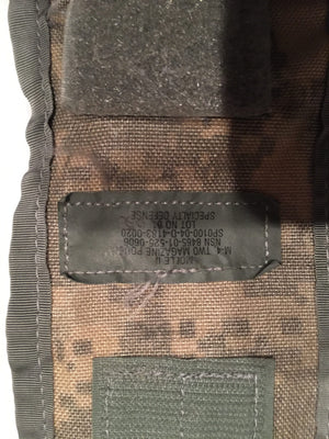 US MILITARY MOLLE II ACU M-4 DOUBLE MAGAZINE POUCH EXCELLENT CONDITION