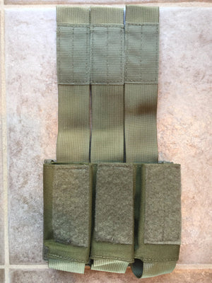 NEW BELLUM DESIGNS 40MM MOLLE TACTICAL POUCH, COLOR: KHAKI